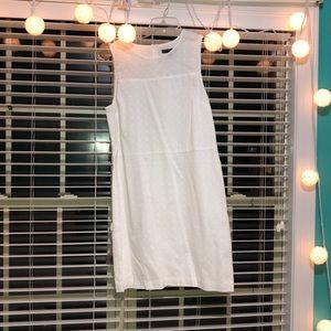White Banana Republic dress